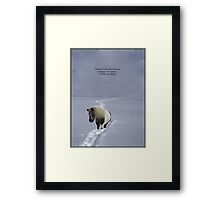 The Pony's Trail - Francis Bacon Quote - Open Edition Framed Print
