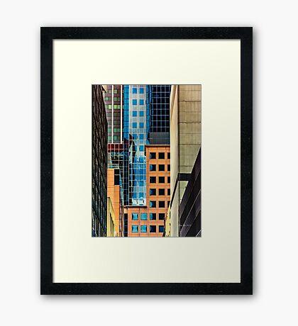 Melbourne Cityscape by Gaye G Framed Print