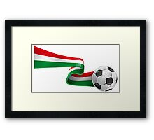 Abstract 3d Italy flag football ribbon tails Framed Print