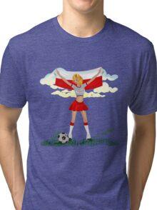 Poland soccer girl Tri-blend T-Shirt