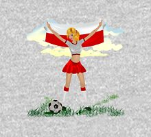 Poland soccer girl Unisex T-Shirt