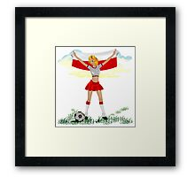 Poland soccer girl Framed Print