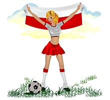 Poland soccer girl Photographic Print