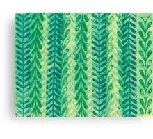 Vine Pattern - Green Canvas Print