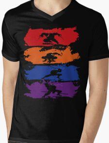 Teenage Mutant Ninja Turtles - New - Official Mens V-Neck T-Shirt