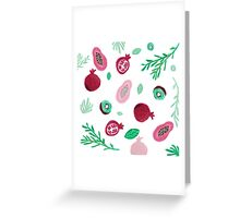 Pattern of fruits and leaves  Greeting Card