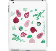 Pattern of fruits and leaves  iPad Case/Skin