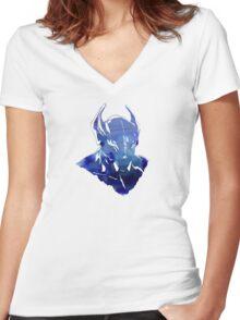 DOTA 2 - Nightstalker Women's Fitted V-Neck T-Shirt