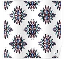 Abstract symmetric pattern. Vector illustration print Poster