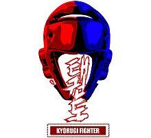 taekwondo kyorugi fighter korean martial art kick and punch Photographic Print