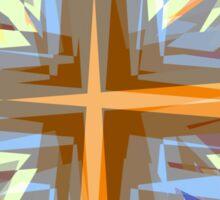 Religious cross starburst pattern Sticker