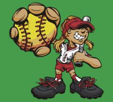 Funny cartoon baseball player One Piece - Short Sleeve