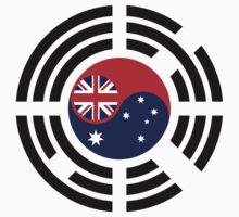 Korean Australian Multinational Patriot Flag Series Baby Tee