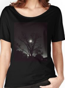 Night, moon, and tree Women's Relaxed Fit T-Shirt