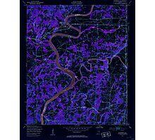 USGS TOPO Map Alabama AL Riverside 304951 1947 24000 Inverted Photographic Print