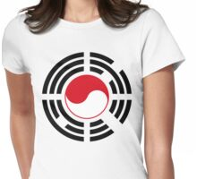 Korean Indonesian Multinational Patriot Flag Series Womens Fitted T-Shirt