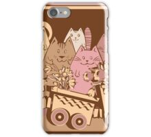 Amusing cartoon toy train cats design iPhone Case/Skin