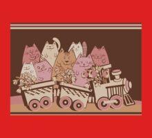 Amusing cartoon toy train cats design One Piece - Short Sleeve