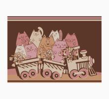 Amusing cartoon toy train cats design One Piece - Long Sleeve
