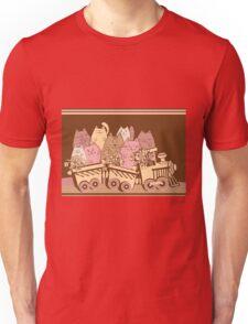 Amusing cartoon toy train cats design Unisex T-Shirt
