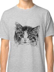 Cartoon purple cat Classic T-Shirt