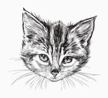 Hand drawn cats head set Baby Tee