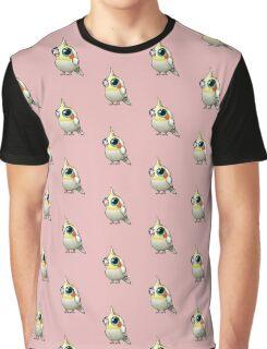 Cute Fat Cockatiel Graphic T-Shirt