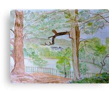 Watercolour River View (Kenwood House) Canvas Print