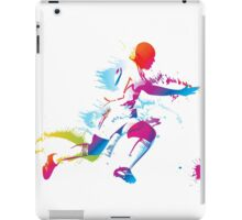 Colorful footballer chasing the ball graphics iPad Case/Skin