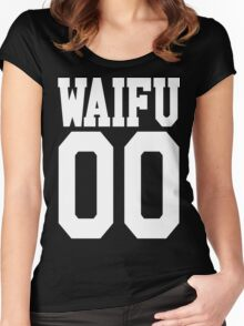 WAIFU 00 JERSEY Women's Fitted Scoop T-Shirt