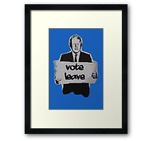 Vote leave! Framed Print