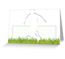 Soccer match in spotlight Greeting Card