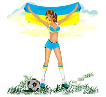 Ukraine soccer girl Photographic Print