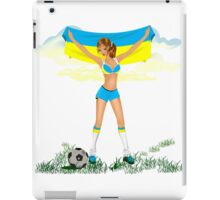 Ukraine soccer girl iPad Case/Skin