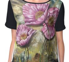 Finding Beauty in Chaos Series:  Pink Poppies Chiffon Top