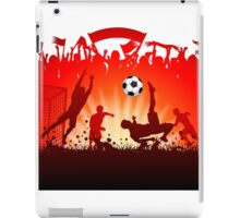 Soccer abstract style backgrounds iPad Case/Skin