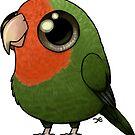 Cute Fat Peachy Lovebird by Demmy