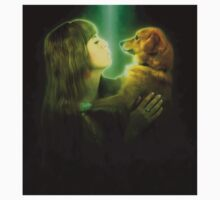 Digitally enhanced image of Human and Dog face to face  One Piece - Long Sleeve