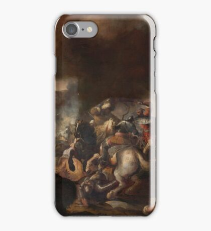 Follower of Jacques Courtois BATTLE SCENE iPhone Case/Skin
