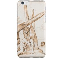 Francesco Barbieri, called Il Guercino BATHERS, A YOUTH DRESSING UNDER A TREE, AND A MAN SWIMMING, iPhone Case/Skin