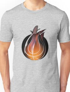 Abstract of volleyball with flame design Unisex T-Shirt