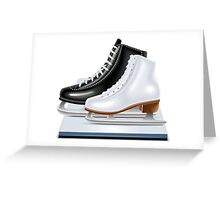 Ice hockey shoes icons Greeting Card