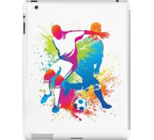 Colorful football players at play iPad Case/Skin