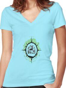 Grass Women's Fitted V-Neck T-Shirt