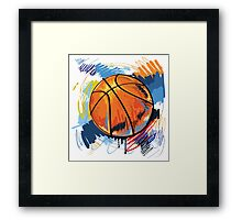Basketball graffiti art Framed Print