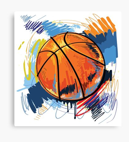 Basketball graffiti art Canvas Print