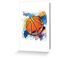 Basketball graffiti art Greeting Card
