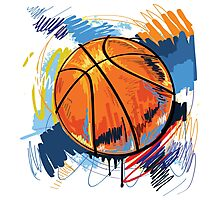 Basketball graffiti art Photographic Print