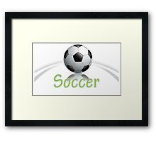 Soccer ball graphics Framed Print