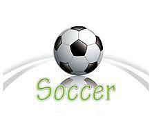 Soccer ball graphics Photographic Print